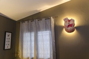 Escultura Barriga Embarazada, Aplique de luz